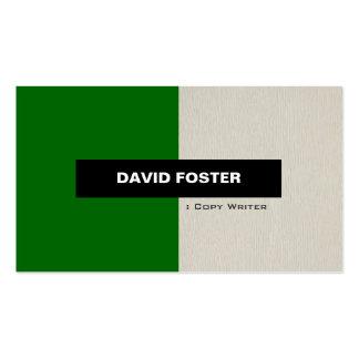 Escritor de la copia - elegante elegante simple tarjetas de negocios