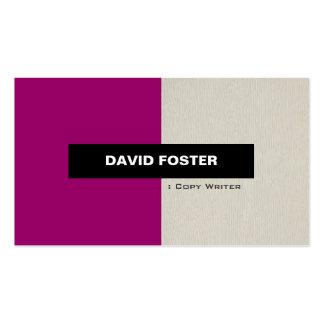 Escritor de la copia - elegante elegante simple tarjeta de visita