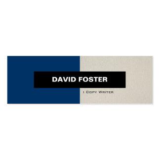 Escritor de la copia - elegante elegante simple plantilla de tarjeta de negocio