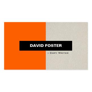 Escritor de la copia - elegante elegante simple plantilla de tarjeta personal