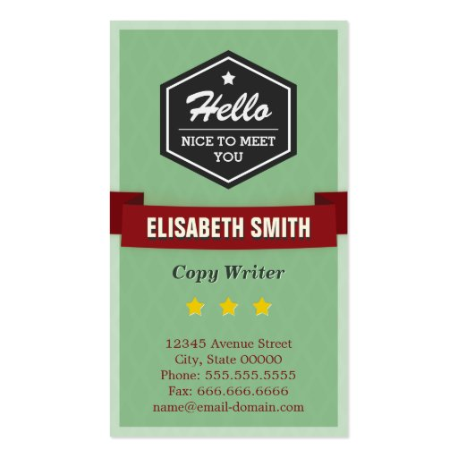 Escritor de la copia - elegante retro del vintage plantillas de tarjetas de visita