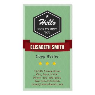 Escritor de la copia - elegante retro del vintage tarjetas de visita