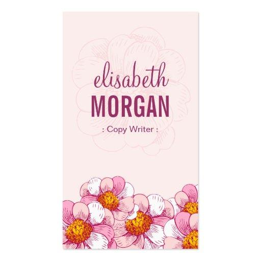 Escritor de la copia - flores rosadas del boutique tarjetas de negocios