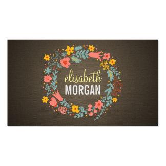 Escritor de la copia - guirnalda floral de la tarjetas de visita