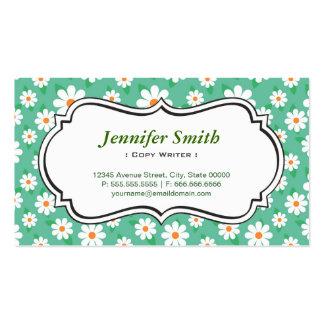 Escritor de la copia - margarita verde elegante tarjetas de visita