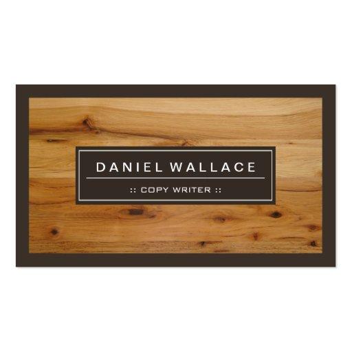 Escritor de la copia - mirada de madera con clase tarjeta de visita