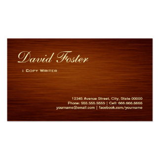 Escritor de la copia - mirada de madera del grano tarjetas de visita