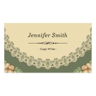 Escritor de la copia - moda del vintage floral tarjetas de visita