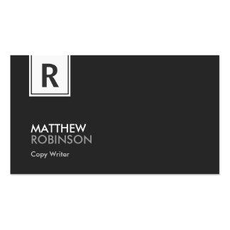 Escritor de la copia - monograma con clase moderno tarjetas de visita