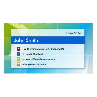 Escritor de la copia - multiusos moderno tarjetas de visita