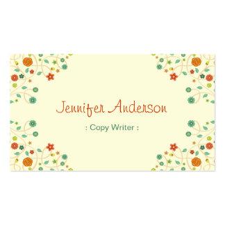 Escritor de la copia - naturaleza elegante tarjetas de visita