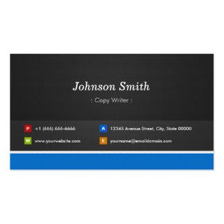 Escritor de la copia - personalizable profesional tarjetas de visita