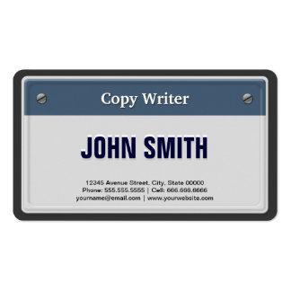 Escritor de la copia - placa fresca del coche tarjetas de visita