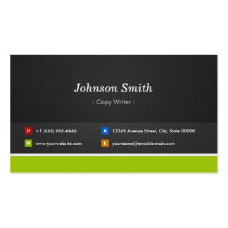 Escritor de la copia - profesional y premio tarjetas de visita