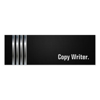 Escritor de la copia - rayas de plata negras tarjetas de negocios