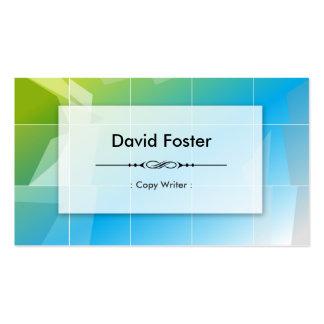 Escritor de la copia - simple elegante moderno tarjetas de visita