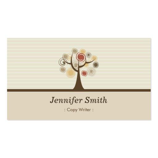 Escritor de la copia - tema natural elegante plantillas de tarjetas de visita