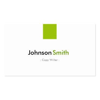 Escritor de la copia - verde menta simple tarjetas de visita