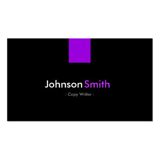 Escritor de la copia - violeta púrpura moderna tarjeta personal