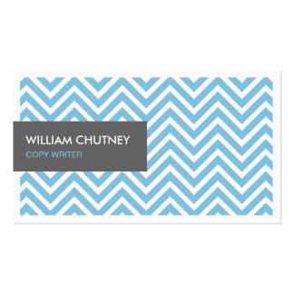 Escritor de la copia - zigzag azul claro de tarjetas de visita