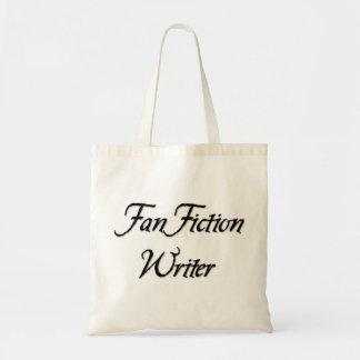 Escritor de la ficción de fan bolsa tela barata