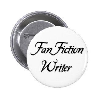 Escritor de la ficción de fan chapa redonda de 5 cm