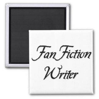 Escritor de la ficción de fan imán cuadrado