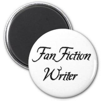 Escritor de la ficción de fan imán redondo 5 cm