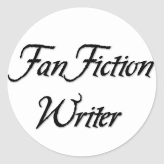 Escritor de la ficción de fan pegatinas redondas