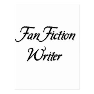 Escritor de la ficción de fan tarjetas postales
