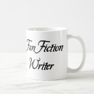 Escritor de la ficción de fan taza de café