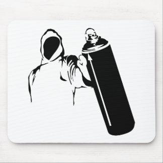 Escritor de la pintada con la plantilla de la pode alfombrilla de ratón