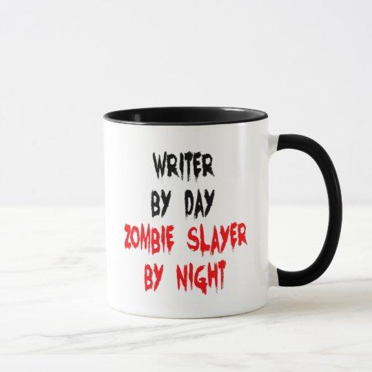 Escritor del asesino del zombi taza