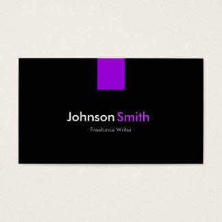Escritor free lance - violeta púrpura moderna tarjeta de negocios