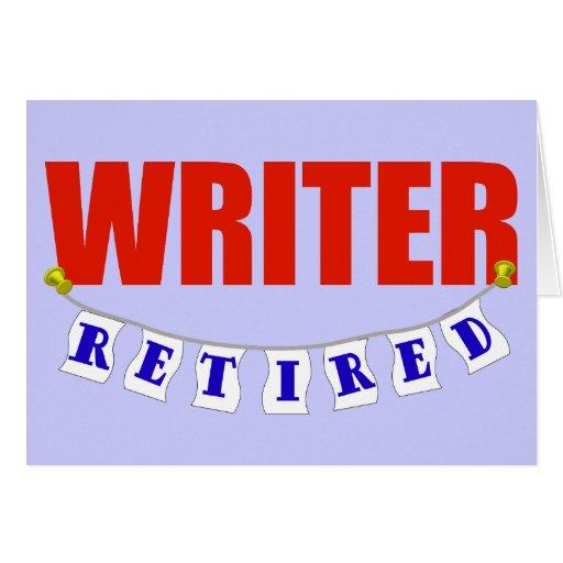 Escritor jubilado felicitacion