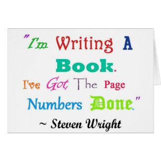Escritores por todas partes V 2 de los escritores Felicitación