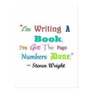 Escritores por todas partes V.2 de los escritores Tarjeta Postal