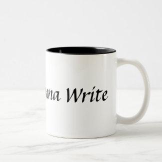 Escritores que van a escribir la taza