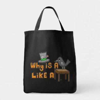 Escritorio del cuervo - tote del ultramarinos bolsas de mano