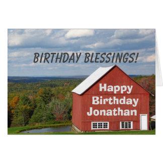 Escritura cristiana personalizada del rezo del tarjeta de felicitación