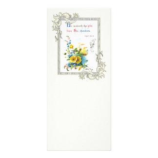 Escritura cristiana y flores bonitas lonas publicitarias