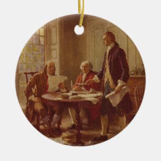 Escritura de la Declaración de Independencia por Adorno Redondo De Cerámica