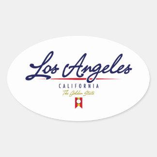 Escritura de Los Ángeles Pegatinas Ovales