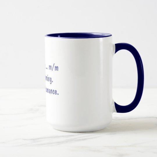 Escritura de una taza romántica