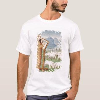 Escritura de Virgil en un campo de ovejas y de Camiseta