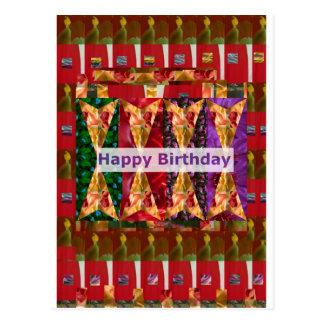 Escritura del ARTE n del FELIZ cumpleaños: Bendici Tarjeta Postal
