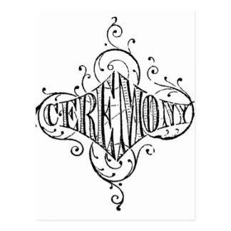 escritura del boda de la CEREMONIA de la Postal