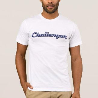 Escritura del cromo del desafiador camiseta