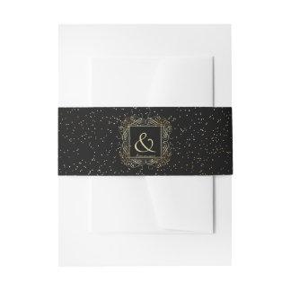Escritura elegante de Scrollwork de la mirada de Cintas Para Invitaciones