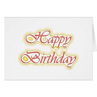 Escritura ELEGANTE del feliz cumpleaños de HappyBi Tarjetas